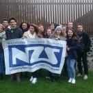 Grupa NZS-iaków na wyjeździe szkoleniowo - integracyjnym NZS Pro.